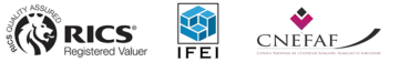 Logos RICS IFEI et CNEFAF